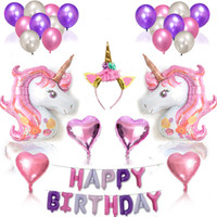 Unicorn Birthday Party Supplies Set Unicorn Birthday Decor W...