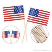 100pcs UK Toothpick Flag American Flag Zahnstocher Kuchen-Deckel-Backen-Kuchen-Dekor-Getränk-Bier-Stock-Partei-Dekoration Supplies BC BH1214