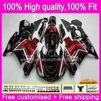 Injectie voor Kawasaki ZX 14R ZZR 1400 ZX14R 12 13 14 15 16 17 73HM.0 ZZR1400 ZX-14R 2012 2013 2014 2015 2016 2017 OEM Fairing Red Black Heet
