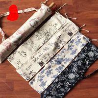 오일 - 종이 우산 헝겊 저장 봉투 여행을위한 안티 먼지 보호 커버 접이식