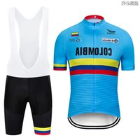 Spedizione gratuita 2019 New Colombia Cycling Jersey 3d Gel Bike Shorts Suit Quick Dry Team Pro Bike Jersey Mens Summer Cycling Wear