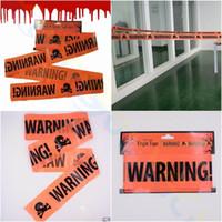 Хеллоуин предупреждение осторожность ленты 6 м хэллоуин вечеринка опасная лента изоляции пояса знак сад фестиваль ужасов украшения партии