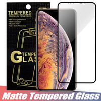 Matte Vidro Temperado Anti Glare Full Glue Curved Protector Film para iPhone XS MAX XR Protetor de Tela para iPhone 7 8 Plus XS X em Retail Box
