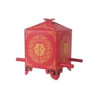 100pcs / lot 중국어 아시아 스타일 레드 더블 행복 세단의 자 결혼식 호의 상자 파티 선물 사탕 상자