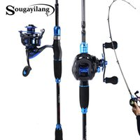Sougayilang 1.8m Angelrute und Angelrolle Combo Carbon Lure Rute und Casting Spinning / Baitcasting Rolle Mit Ersatzspulen Sets