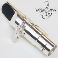 المهنية اليابان تينور سوبرانو ألتو ساكسفون المعادن المعبرة الفضة مطلي المعبرة ساكس الفم قطعة حجم 5 6 7 8 9