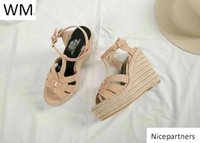 Duping520 New Nude Hemp Rope Sole High Heel Shoes Sandals Wo...