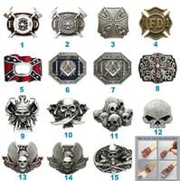 Nuevo Skull Firefighter Cinturón Hebilla Combinación de estilos Opción en Estados Unidos Cada hebilla es única Elija su diseño de hebilla favorito