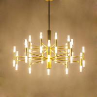 الأسود الحديثة معدن الذهب زجاج أنبوب قلادة مصباح G4 لمبة LED علقت تركيبات الإضاءة الثريا المعدنية للعيش غرفة نوم وغرفة