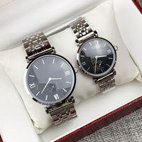 2020 Fashion New Design Design Uomo / Donne Guarda argento in acciaio inox Acciaio in acciaio inossidabile Gli amanti degli orologi dell'uomo Orologi di lusso al quarzo Orologio classico di affari