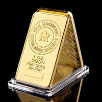 La Royal Canadian Arts e Artigianato Menta 1oz .9999 Fine Gold Oro o Pure Plated Souvenir Bullon BAR