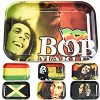 Metal Smoke Rolling Tray Bob Marley Size 280*180mm Tobacco Cartoon Roll Hand Roller Smoking Accessories Cigarettes Joint Blunt tools Trays