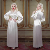 Ivory Bridal Bathrobe Sleepwear Nightgown Evening Party Bath...