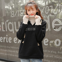 Hoodies autumn and winter new ladies Hooded sweater fake two...