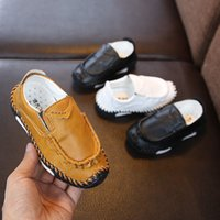 spring new children' s baby shoes boys handmade stitchin...