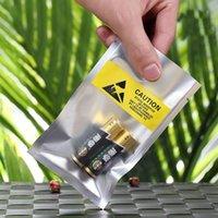 Açık Üst ESD 6 * 11cm Plastik Ambalaj Poşet Antistatik Anti-Statik telefon esnek kablo pil Plastik Ambalaj Kılıfı Sarı etiket için