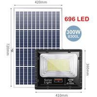 Umlight1688 beweglichen wasserdicht Aluminium-Fernbedienung 2ST 300W 696 führte im Freien Solar-LED-Flutlicht mit Batterieanzeige