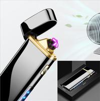 Elektronische Tabak leichter Doppel Pulsed Arc Feuerzeug USB aufladbare Flameless Elektrolichtbogen Rauchen Feuerzeuge für Glas Wasser bong DHL geben frei!