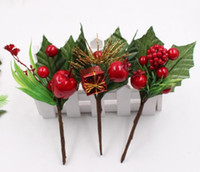 искусственный цветок красная жемчужина тычинка ягоды филиал для свадьбы новогоднее украшение DIY день святого валентина подарочная коробка ремесло flowe GB748