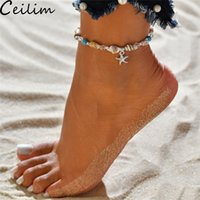 Handmade Shell Pendant Anklet Beads Starfish For Women Antiq...