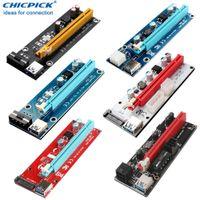 USB 3.0 PCIE Express 1x до 16x Riser Card Кабельная графика Удлинитель видео для Bitcoin BTC ETH MANING SATA 6PIN MOLEX