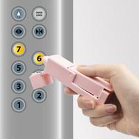 아니오 터치 프레스 엘리베이터 도구 버튼 아티팩트 비접촉식 플라스틱 도어 오프너 안전 보호 도구 여행 액세서리 6 5LB E19
