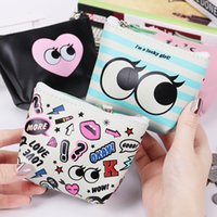 2019 1PC Creative Coin Purse Girls Case PU Leather Zipper Ke...