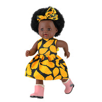 12 Patterns Newborn African Black Baby dolls 40CM 16inch Bea...