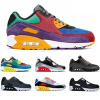 Mens Running Shoes 90 Be True Viotech Lucid Mixtape New Chaussures Designer White Boys mulheres Formadores Sports Sneakers Zapatos Tamanho 36-47
