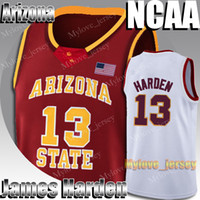 NCAA Arizona State James Harden 13 Jersey Stephen Curry 30 Kawhi 15 Leonard Russell Westbrook 0 Jerseys College Basketball Jersey