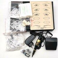 New 1Set Permanent Makeup Augenbrauen Kit Pen / Maschine + Augenbrauen Nadel + Braue Tip-Tinte für Permanent Lippen Kit Versorgung