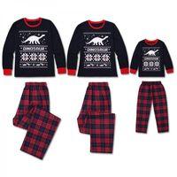 Focusnorm Weihnachten Familie Passende Pyjamas Set Erwachsene Kinder Weihnachten Nachtwäsche Pyjamas Sets PJS