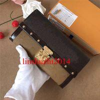 Высокое качество нового способа кожаный бумажник Роскошные кошельки женщин бумажники конструктора держателя карты Известные бумажники Длинные Стиль 60535