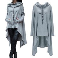 여성 후드 후드 가을 겨울 패션 긴 소매 hoody sweatshirt harujuku 소녀 귀여운 편지 인쇄 탑 플러스 크기 4xl