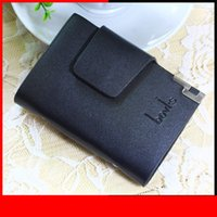 Mens Cards Holder Black Coffee Color Brand Pattern 24 Cards ...