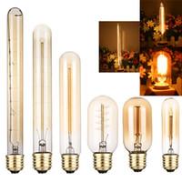 Retro Edison levou lâmpadas E27 40W 110V 220V T45 T10 T185 T225 T300 Ampola incandescente luzes Filament 2700K
