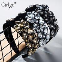 Andere Girlgo Boho Mode Glas Blume Haarbänder für Frauen Trendy Haarschmuck Hochzeit Stirnbänder Schmuck Partei Großhandel