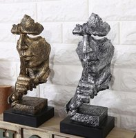 Kreative Denker Statuen Retro Abstrakt Charaktere Figur nicht zuhören / Speak / Blick Miniatur-Skulptur Desktop-Fertigkeit-Geschenk