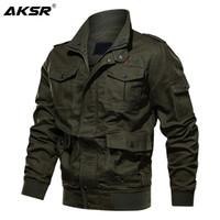 Vestes Hommes Aksr Hommes Vêtements Automne Veste en coton d'hiver Plus Taille Taille Tactique Bombardier Tactique Cargo Vol Manteau Outwear