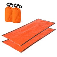 Sacos de dormir 2 pcs saco ultrlight saco de compressão emergência leve portátil para acampar viagens caminhadas mochilas
