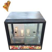 Коммерческая пицца конус теплее изоляционный шкаф витрина нагревательный шкаф пицца витрина горячие блюда витрина для продажи