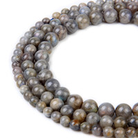 Natural Labradorite Stone Beads Round Gemstone Loose Beads f...