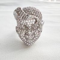 Anelli di Viso Jewelry dell'anello di disegno bene di lusso del cristallo CZ pietre piene Brass Jewellery donne per la festa