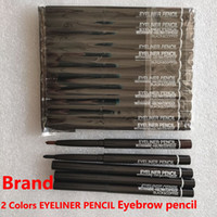 Marque M Maquillage pour les yeux Rotation Pouce d'eye-liner à café noir rétractable Crayon émerveilleux Eye-liner Crayon Cosmetics Outil 2 couleurs