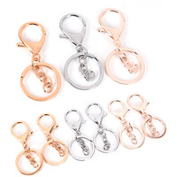 10pcs lot Key Ring Long Popular classic Plated lobster clasp...