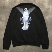 20SS Hommes Sweatshirts Automne Hiver Vierge Marie Pentagram print O-cou yeux coton manteau fermeture éclair de qualité supérieure capuche manches longues noir 6546