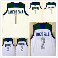 Quente huskies High School costurou lonzo bola costurada 1 lamelo bola balanço jersey jersey camisas barato basquete inteiro esporte 2