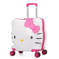 Kids Hello Kitty Rolling Luggage Bag Children' s Suitcas...
