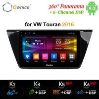 폭스 바겐 투란 2016 안드로이드 9.0 8Core 4G DSP (360) 카메라 Ownice K3 K5 K6 자동차 DVD 플레이어 라디오