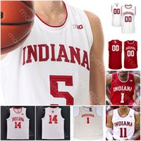 Özel Indiana Hoosiers Basketbol Forması NCAA Koleji Anunoby Bryant Gordon Zeller Walt Bellamy Bird Crwford Oladipo Thomas Thompson